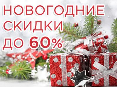 Новогодние скидки до 60%! Покупайте подарки выгодно!