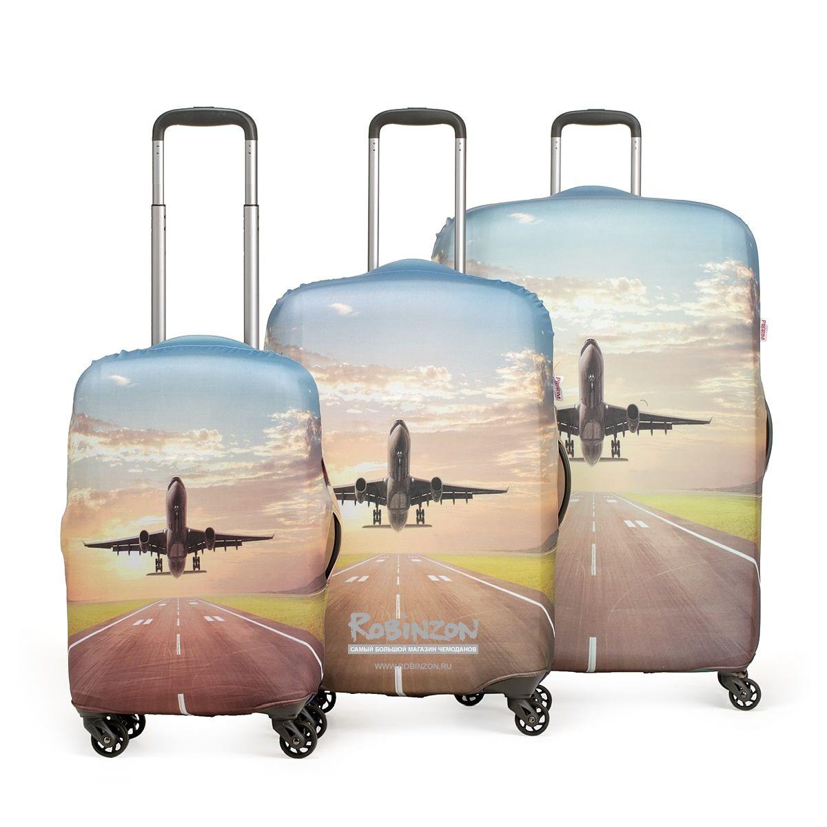 25739712b646 Чехол для чемодана большой Eberhart EBH209 L Plane