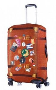65a7dcb4443c Чехол для чемодана средний Eberhart EBH554 M Retro Case Stickers