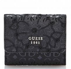 Портмоне женское Guess SWSG6961440BLA Jayne Floral Embroidery Wallet