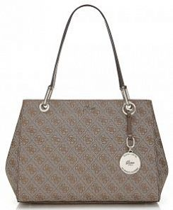 Сумка Guess HWSG6965090BRO Jacqui Logo Shoulder Bag