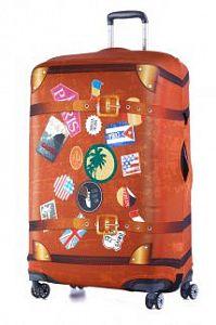 5286a514c93f Чехол для чемодана большой Eberhart EBH554 L Retro Case Stickers
